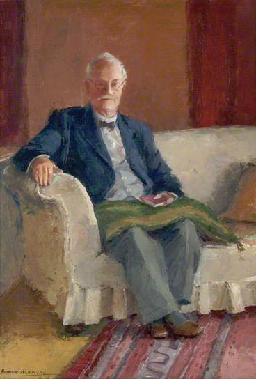 Photo of a painting of Andrew Henderson Bishop
